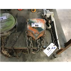 ORANGE WESTWARD 2 TON CHAIN HOIST