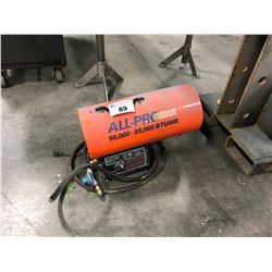 ALL-PRO 50,000 TO 85,000 BTU PROPANE SHOP HEATER