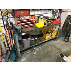"24"" X 72"" 2 TIER METAL WORK BENCH WITH VICE GRIP"