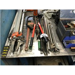 ASSORTED LARGE TOOLS & PRY BARS