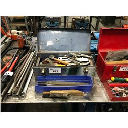 BLUE BEACH TOOL BOX AND CONTENTS