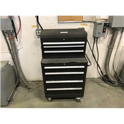 BLACK 7 DRAWER MOBILE TOOL BOX WITH CONTENTS