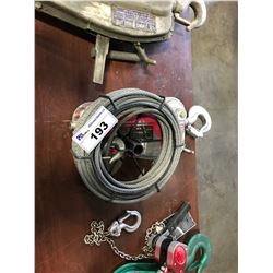 JET GRIP-PULLER 1500 LBS SCAFFOLD HOIST WITH CABLE