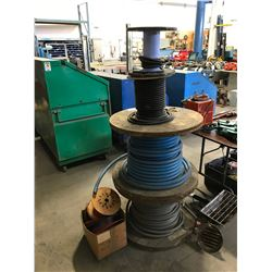 STACK OF ASSORTED HEAVY DUTY CABLE