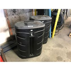 PAIR OF CREATIVE DISPLAY STORAGE CONTAINER WITH CONTENTS