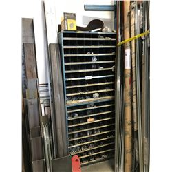 2 PARTS BINS WITH CONTENTS & REBAR