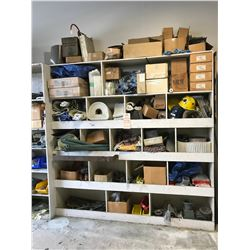 ASSORTED CONVEYOR PARTS, TOOLS, & MISCELLANEOUS PARTS LOCATED ON MEZZANINE