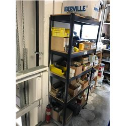 2 SHELVES OF ASSORTED SPRAY BOMBS & ELECTRICAL PARTS