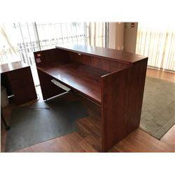 AUTUMN MAPLE 2 TIER RECEPTION DESK