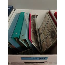 BOX LOT OF 4 X BINDERS OF HOCKEY CARDS