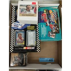 TRAY LOT OF NASCAR/RACING COLLECTORS CARDS