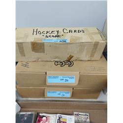 3 X BOXES OF SCORE/UPPER DECK HOCKEY CARDS