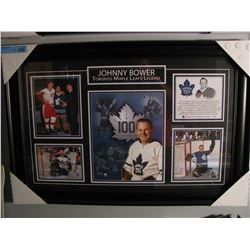 FRAMED JOHNNY BOWER CAREER COLLAGE