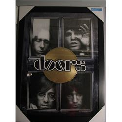 THE DOORS WINDOW FRAMED PRINT W/ GOLD LP