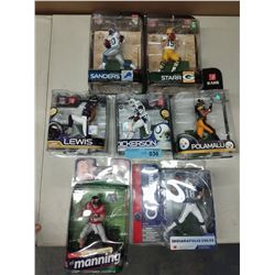 7 X NEW IN BOX MACFARLANE NFL PLAYER FIGURINES