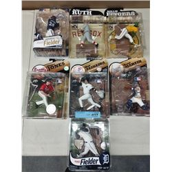 7 X NEW IN BOX MACFARLANE MLB PLAYER FIGURINES