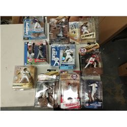 10 X NEW IN BOX MACFARLANE MLB PLAYER FIGURINES