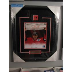 SIGNED/FRAMED RYAN SMITH TEAM CANADA PHOTO