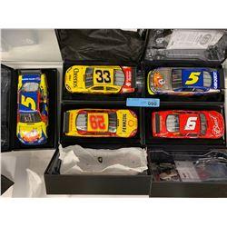 5 X NASCAR DIE CAST MODEL CARS