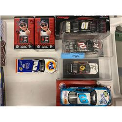5 X NASCAR DIE CAST MODEL CARS W/ COLLECTOR CARDS