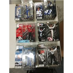 6 X NEW IN BOX MACFARLANE NASCAR FIGURINES