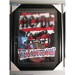 FRAMED AC/DC WE SALUTE YOU PRINT W/ PLATINUM LP