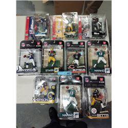 10 X NEW IN BOX MCFARLANE NFL FIGURINES