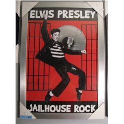 FRAMED ELVIS PRESLEY JAILHOUSE ROCK W/ LP