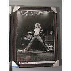 FRAMED LED ZEPPLIN AT EARLS COURT 1975 PRINT
