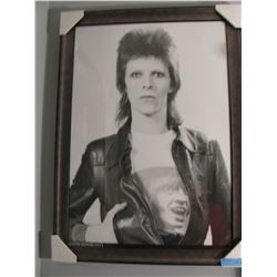 FRAMED DAVID BOWIE 1973 PRINT