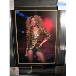 FRAMED/MATTED BEYONCE PRINT