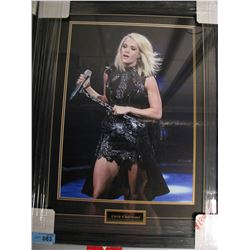 FRAMED/MATTED CARRIE UNDERWOOD PRINT