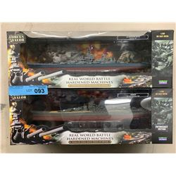 2 X FORCES OF VALOR DIECAST METAL BATTLESHIPS