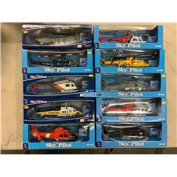 10 X DIE CAST HELICOPTER MODELS