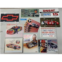 NASCAR LICENSE PLATES AND PHOTOS