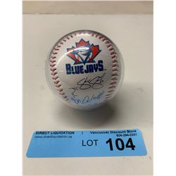 SIGNED IN CASE TORONTO BLUE JAYS BASEBALL
