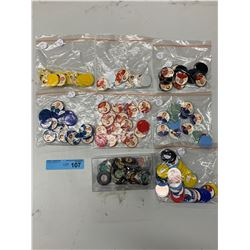 COLLECTIBLE HOCKEY COINS AND HOT WHEELS PINS