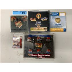 COLLECTIBLE NASCAR PINS W/ DALE EARNHARDT CARD