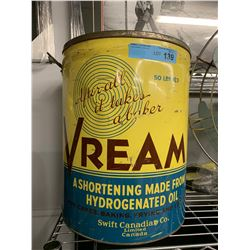 VINTAGE VREAM SHORTENING TIN/CAN