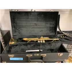 BRASS TRUMPET WITH CASE