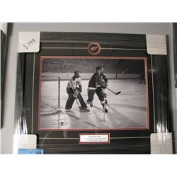 FRAMED GORDIE HOWE DETROIT VS MONTREAL