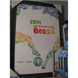 FRAMED 2014 FIFA WORLD CUP BRAZIL