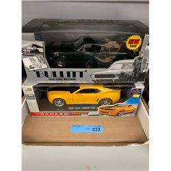 TRAY LOT OF DIECAST CAR MODELS