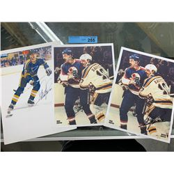3 X SIGNED DAVE BABYCH PHOTOS