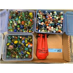 LARGE LOT OF COLLECTIBLE MARBLES
