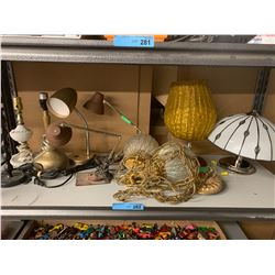 SHELF LOT OF HOME DECOR LOTS