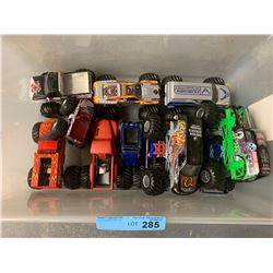 BOX LOT MONSTER TRUCK TOYS