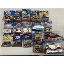 BOX OF HOT WHEELS MONSTER TRUCK TOYS