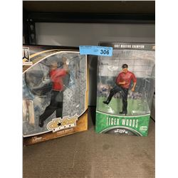 2 X TIGER WOODS FIGURINES