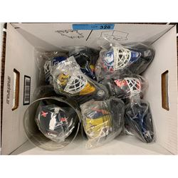 BOX LOT OF MCDONALDS GOALIE HELMETS
